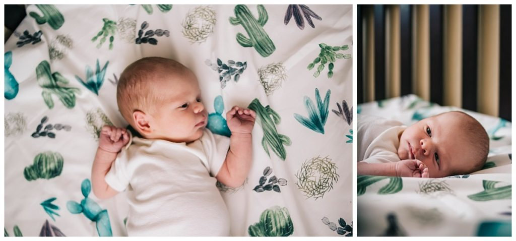 in-home lifestyle newborn photography session fort myers florida