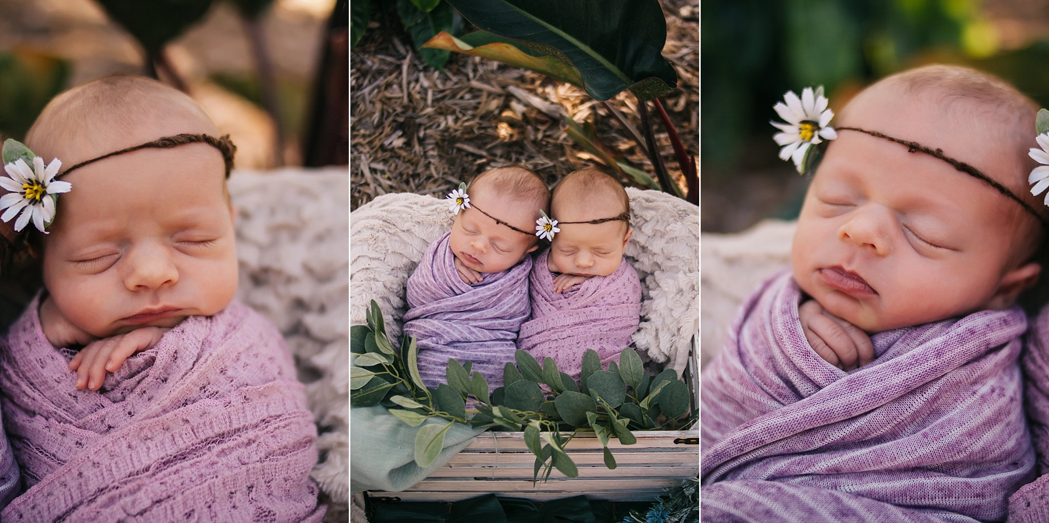 Newborn Twin Photography Naples Florida